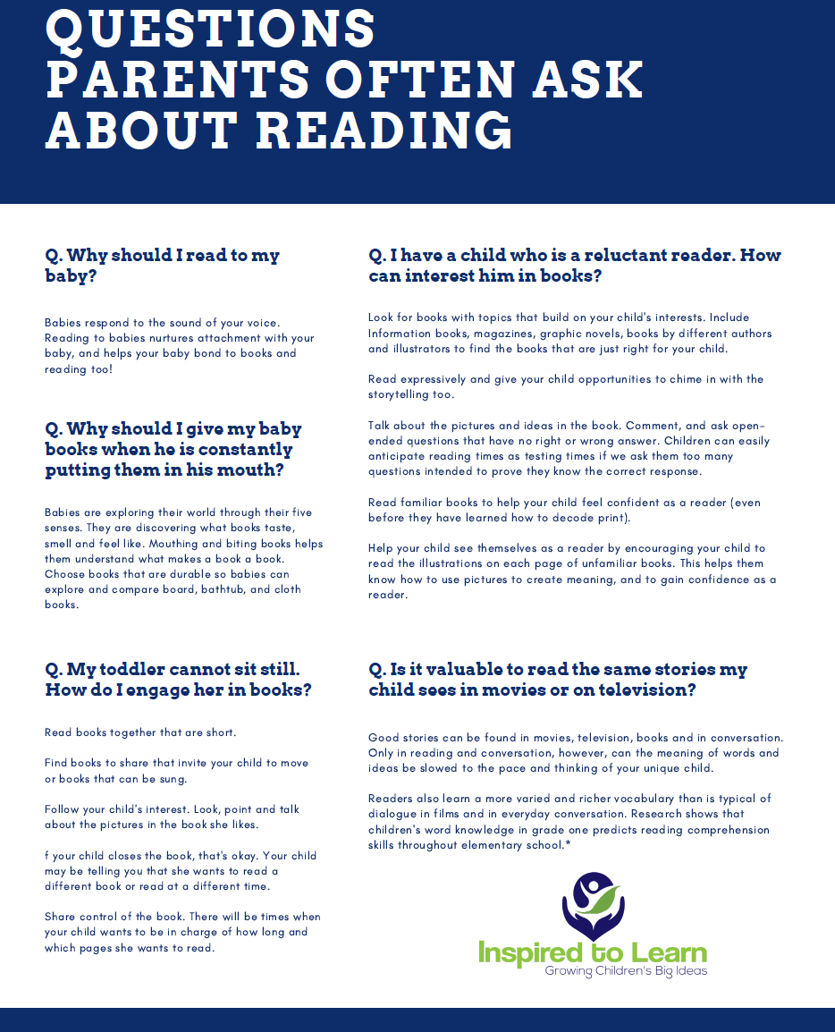 Questions parents often ask about reading